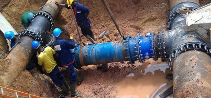 Lancement de la nouvelle usine d'eau potable d'Ntoum