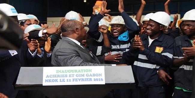 Ali Bongo sur le front de l'acier
