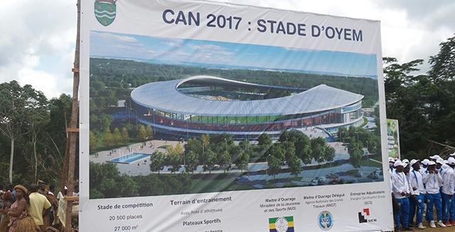 CAN Gabon 2017 : Ali Bongo visite le stade d'Oyem
