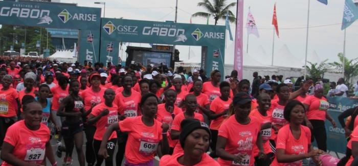 Ali Bongo fait une apparition lors du Marathon du Gabon